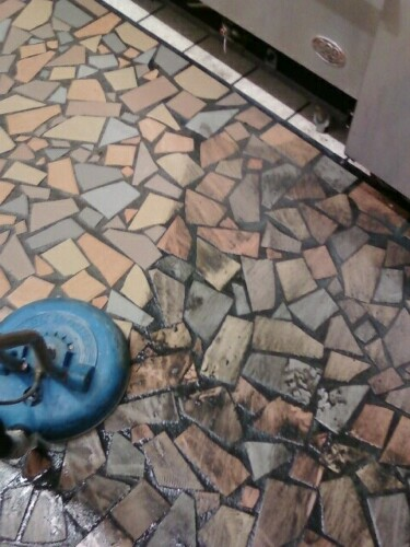 BBQ-RESTAURANT TILE CLEANING